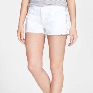 Jbrand White Side Zip Shorts